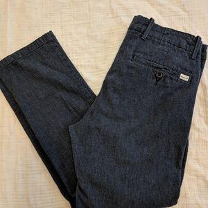 Men's Lightweight Navy Linen Jeans
